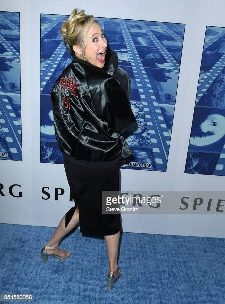 Caroline Goodall arrives at the Premiere Of HBO's 'Spielberg' at Paramount Studios on September 26 2017 in Hollywood California
