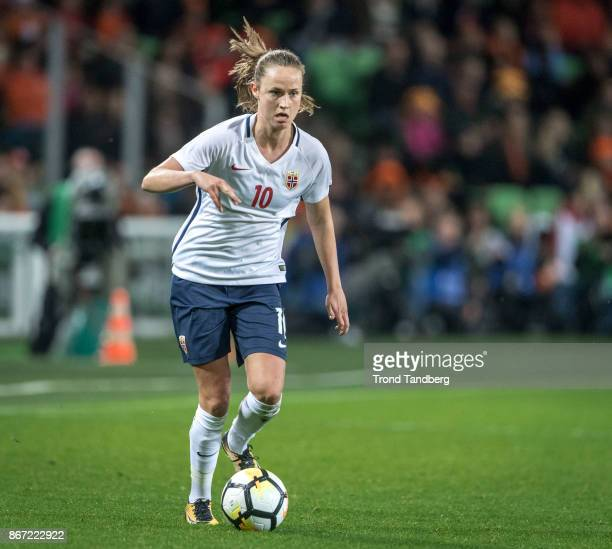 Caroline Graham Hansen of Norway during the FIFA 2018 World Cup Qualifier between Netherland and Norway at Noordlease Stadion on October 24 2017 in...