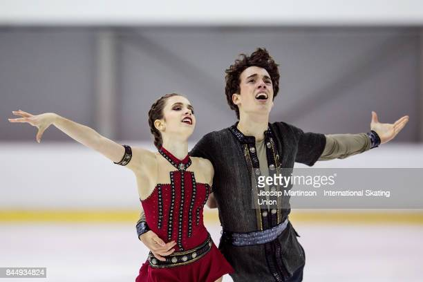 Caroline Green and Gordon Green of the United States compete in the Junior Ice Dance Free Dance during day 3 of the Riga Cup ISU Junior Grand Prix of...