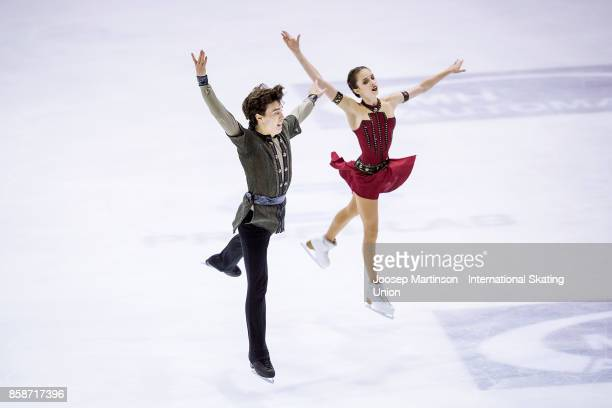 Caroline Green and Gordon Green of the United States compete in the Ice Dance Free Dance during day three of the ISU Junior Grand Prix of Figure...