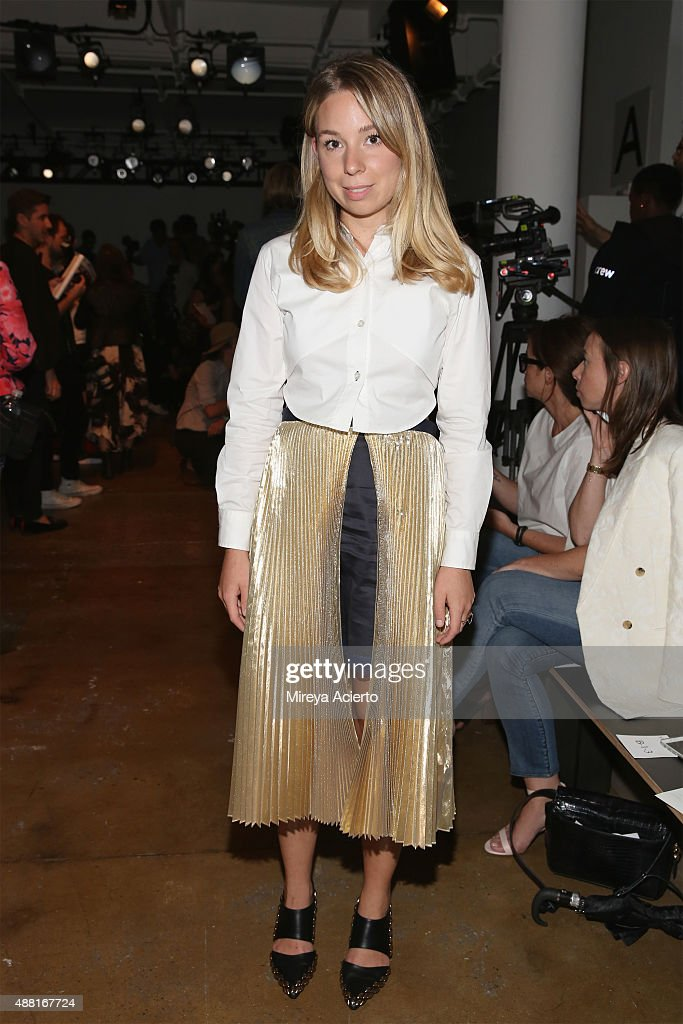 Caroline Grosso attends the Jonathan Simkhai fashion show during Spring 2016 MADE Fashion Week at Milk Studios on September 13 2015 in New York City