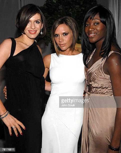 Caroline Hedley Victoria Beckham and guest at Elton John AIDS Foundation Oscar Party Sponsored by Audi