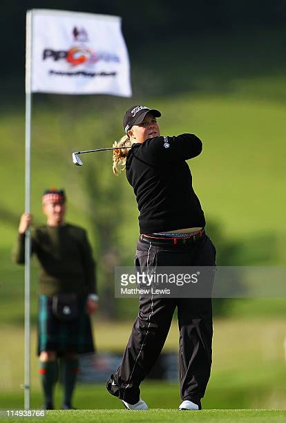 Caroline Hedwall of Sweden plays a shot from the 3rd fairway during the PowerPlay Ignition Golf on the Twenty Ten Course at the Celtic Manor Resort...
