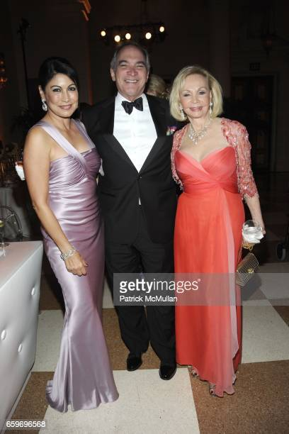 Caroline Hirsch Raul Suarez and Iris Cantor attend LARRY HERBERT 80TH Birthday Celebration at The Breakers Palm Beach on March 28 2009 in Palm Beach...