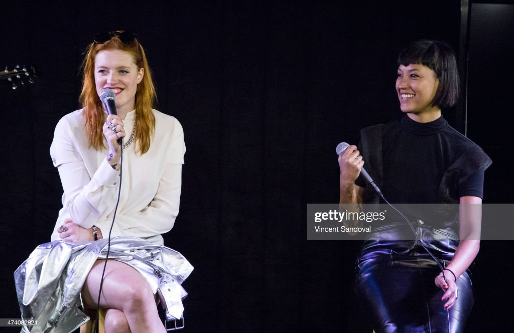 Caroline Hjelt and Aino Jawo of Icona Pop perform onstage during a private session at the 1027 KIIS FM Soul by Ludacris Headphones Studio at Clear...