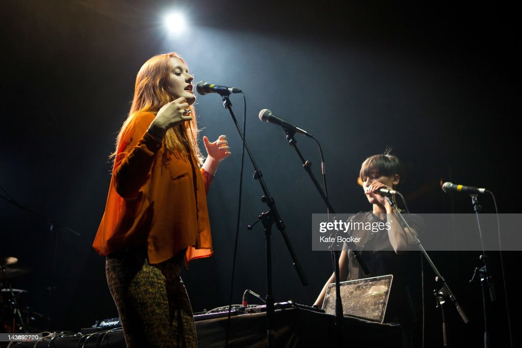Caroline Hjelt and Aino Tawo of Icona Pop perform on stage during the Camden Crawl at KOKO on May 4 2012 in London United Kingdom