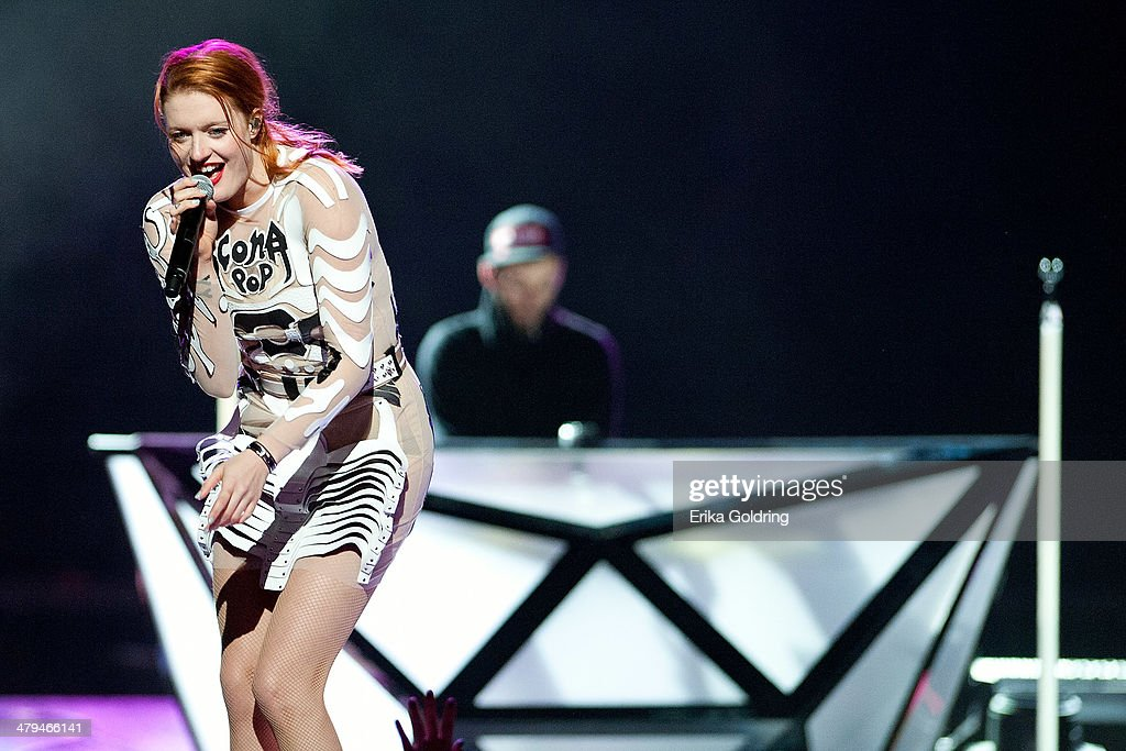 Caroline Hjelt of Icona Pop performs at Smoothie King Center on March 18 2014 in New Orleans Louisiana