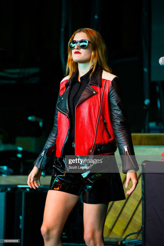 <a gi-track='captionPersonalityLinkClicked' href=/galleries/search?phrase=Caroline+Hjelt&family=editorial&specificpeople=8670421 ng-click='$event.stopPropagation()'>Caroline Hjelt</a> of Icona Pop performs during the St Jerome's Laneway Festival at Meadow Brook Music Festival on September 14, 2013 in Rochester, Michigan.