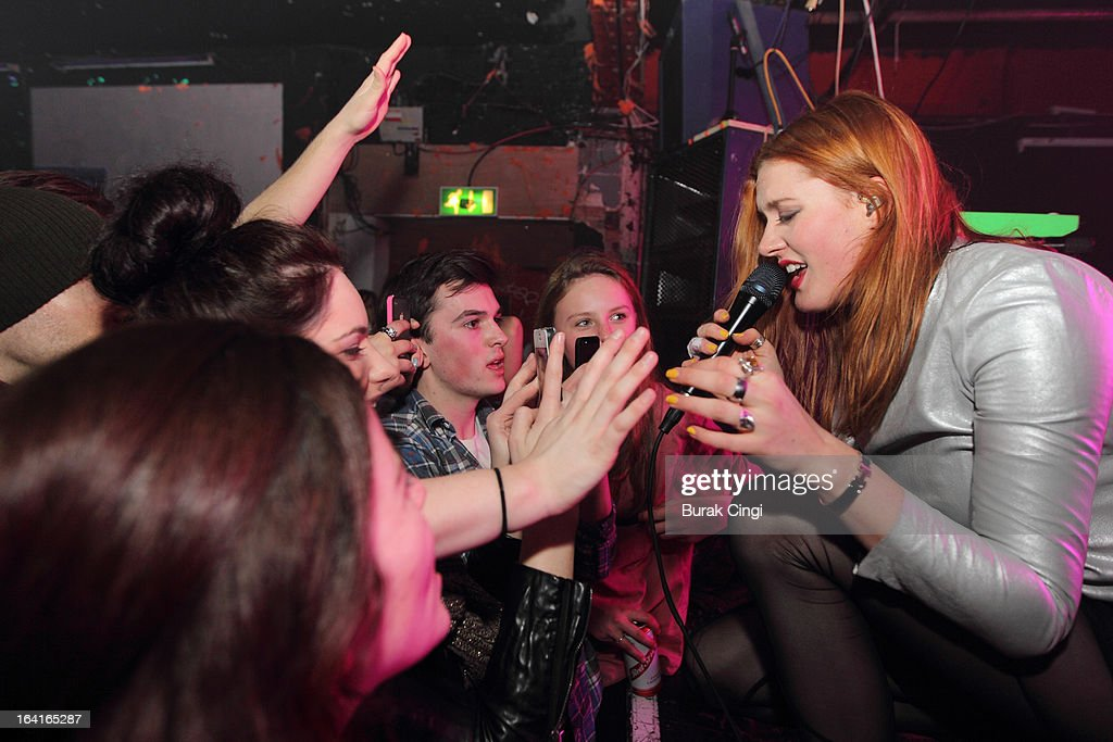 Caroline Hjelt of Icona Pop performs on stage on March 20, 2013 in London, England.
