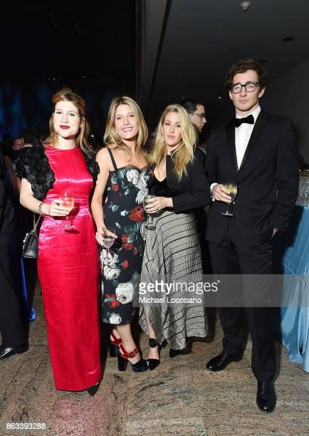 Caroline Hoffman Charlotte Van Dercook Ellie Goulding and Caspar Jopling attend the 2017 Apollo Circle Benefit The Metropolitan Museum of Art on...