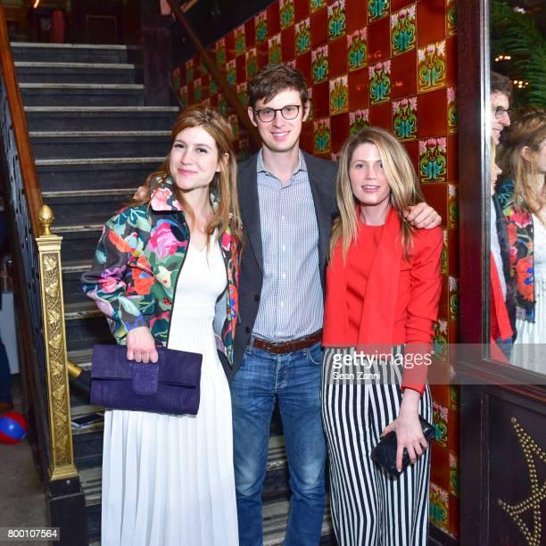 Caroline Hoffman Matt Chaiken and Victoria Stockman attend AFIM Presents Celebrate Summer An Art Acquisitions Fundraiser at The Jane Hotel on June 22...