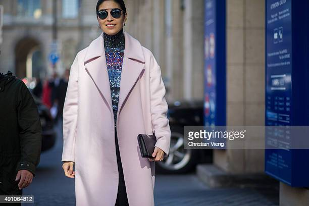 Caroline Issa after Dior during the Paris Fashion Week Womenswear Spring/Summer 2016 on October 2 2015 in Paris France