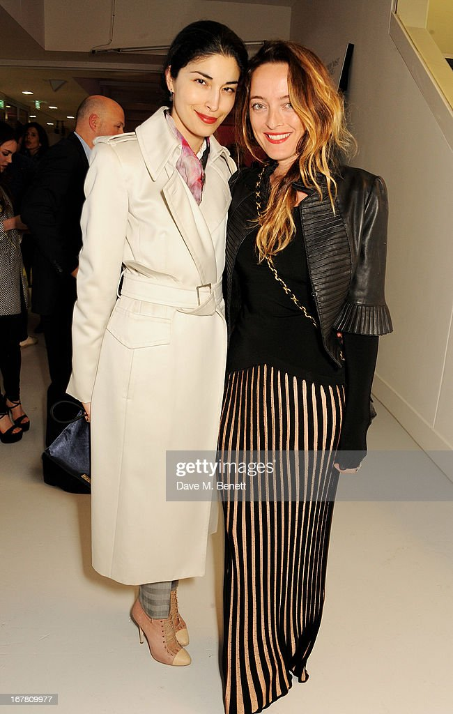 <a gi-track='captionPersonalityLinkClicked' href=/galleries/search?phrase=Caroline+Issa&family=editorial&specificpeople=2254046 ng-click='$event.stopPropagation()'>Caroline Issa</a> (L) and Alice Temperley attend the Conde Nast College of Fashion & Design opening party at 16/17 Greek Street on April 30, 2013 in London, England.