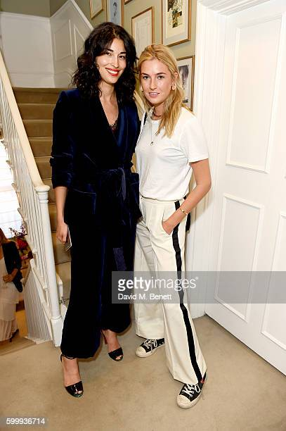 Caroline Issa and Camille Charriere attend a cocktail reception hosted by RACIL and MATCHESFASHIONCOM to celebrate the launch of Racil AW16...
