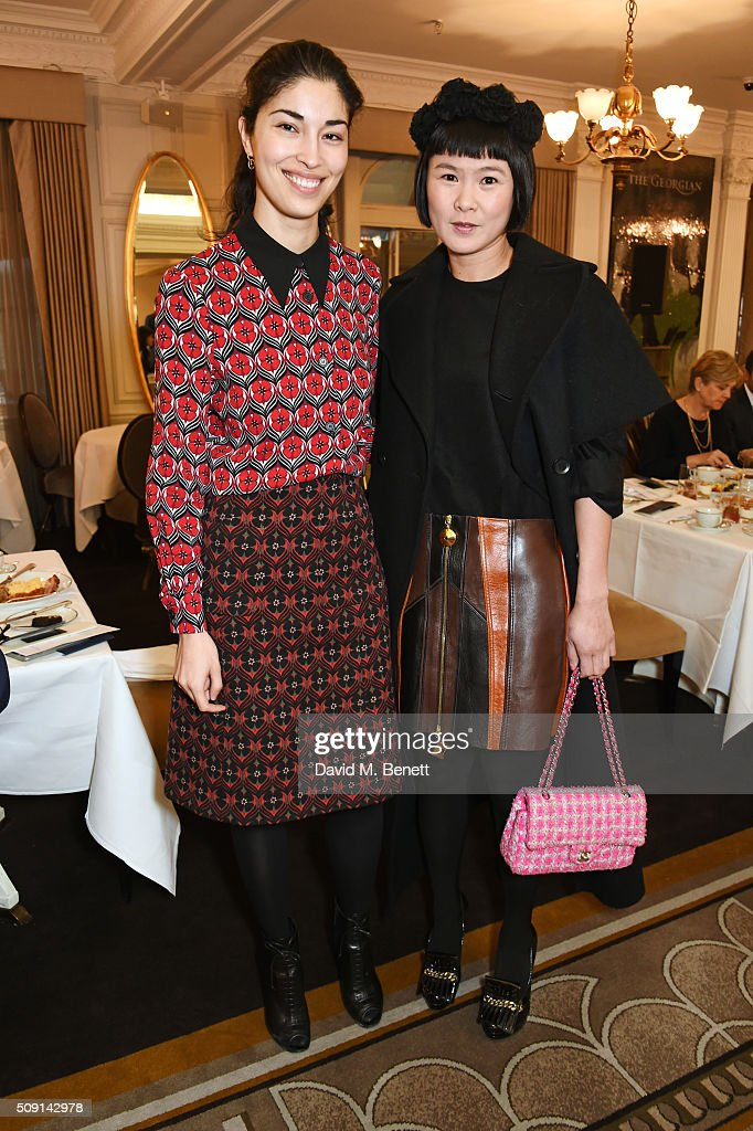 Caroline Issa (L) and Phyllis Wang attend the Hoping Breakfast for Palestinian refugee children at Harrods on February 9, 2016 in London, England.