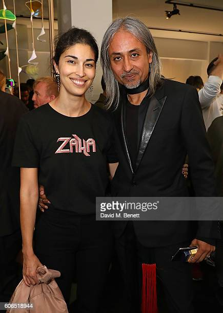 Caroline Issa and Zaim Kamal attend Tank Magazine's LFW party hosted by editorinchief Caroline Issa during London Fashion Week Spring/Summer...