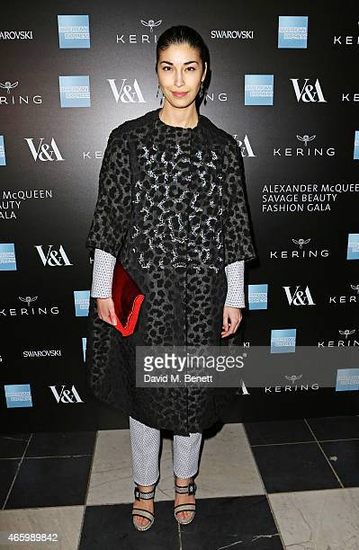 Caroline Issa arrives at the Alexander McQueen Savage Beauty Fashion Gala at the VA presented by American Express and Kering on March 12 2015 in...