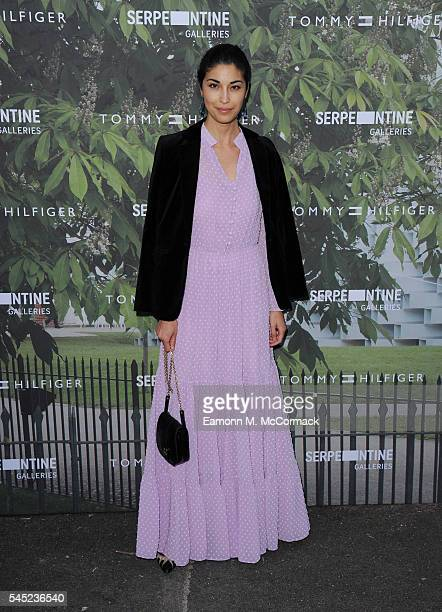 Caroline Issa arrives for the Serpentine Summer Party at The Serpentine Gallery on July 6 2016 in London England