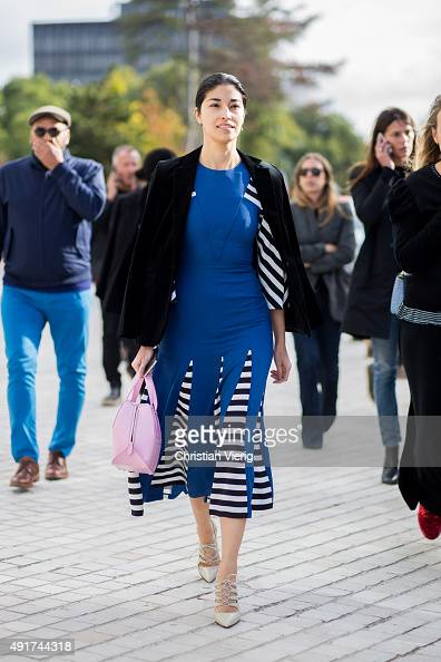 Caroline Issa at Louis Vuitton during the Paris Fashion Week Womenswear Spring/Summer 2016 on Oktober 7 2015 in Paris France