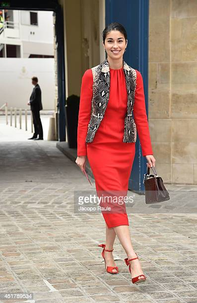Caroline Issa attend the Schiaparelli show as part of Paris Fashion Week Haute Couture Fall/Winter 20142015 on July 7 2014 in Paris France