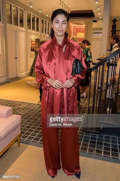 Caroline Issa attends a dinner to celebrate luxury Spanish fashion house Delpozo hosted by Poppy Delevingne at Moda Operandi on October 6 2014 in...