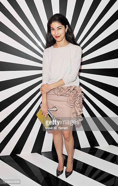 Caroline Issa attends a private dinner hosted by Jimmy Choo and W Magazine in honour of artist Rob Pruitt at 35 Belgrave Square on October 11 2012 in...