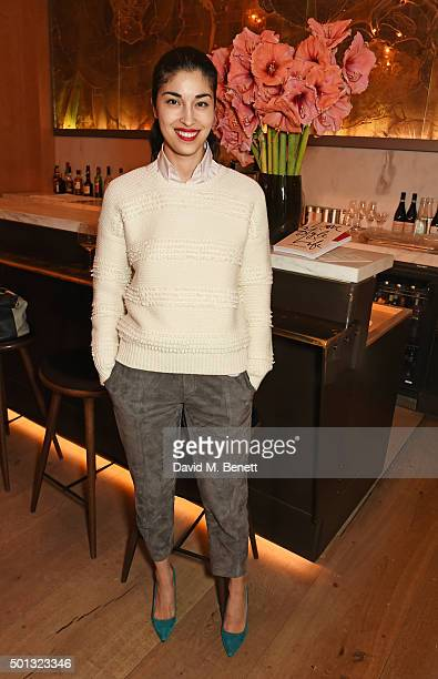 Caroline Issa attends a private VIP dinner hosted by Club Monaco and Garance Dore in celebration of the 'Love Style Life' book tour at Spring at...