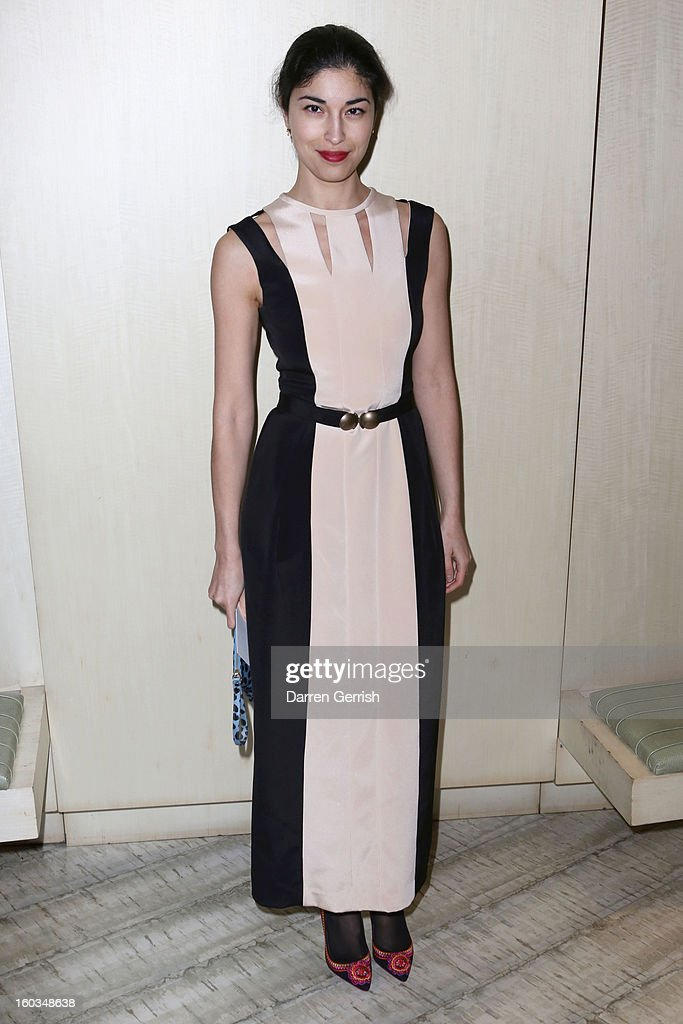 Caroline Issa attends Nobu Berkeley during the BFC/Vogue Designer Fashion Fund - Winners Announcement on January 29, 2013 in London, England.