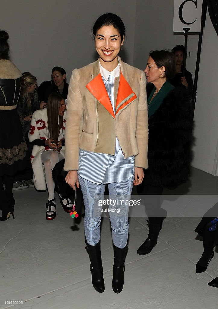 Caroline Issa attends Rodarte during Fall 2013 Mercedes-Benz Fashion Week on February 12, 2013 in New York City.