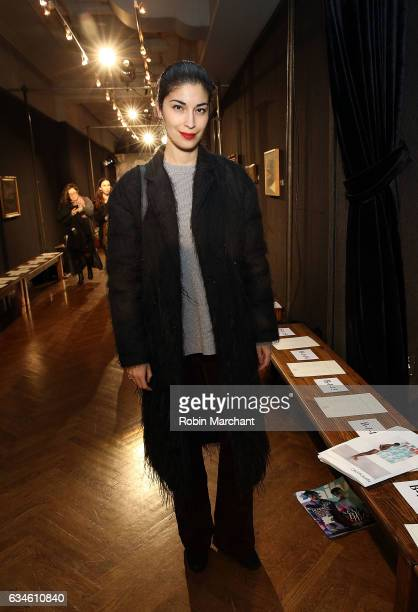 Caroline Issa attends Sachin Babi Front Row during New York Fashion Week at The National Arts Club on February 10 2017 in New York City