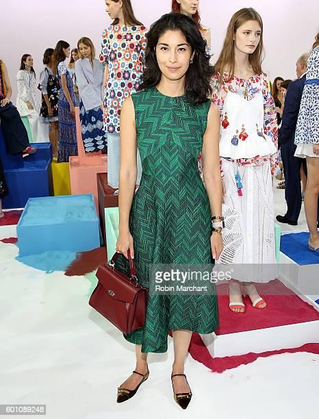 Caroline Issa attends Tanya Taylor Presentation September 2016 during New York Fashion Week at Spring Studios on September 9 2016 in New York City