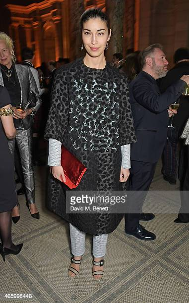 Caroline Issa attends the Alexander McQueen Savage Beauty Fashion Gala at the VA presented by American Express and Kering on March 12 2015 in London...