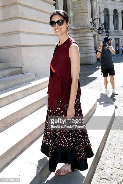 Caroline Issa attends the Balmain Menswear Spring/Summer 2016 show as part of Paris Fashion Week on June 27 2015 in Paris France