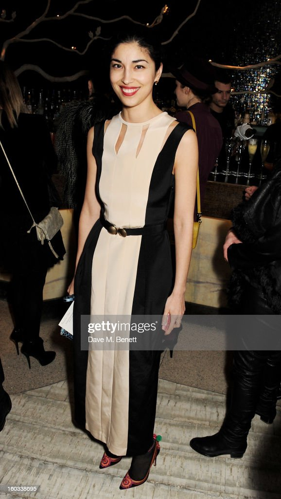 Caroline Issa attends the BFC/Vogue Designer Fashion Fund winners announcement at Nobu Berkeley on January 29, 2013 in London, England.
