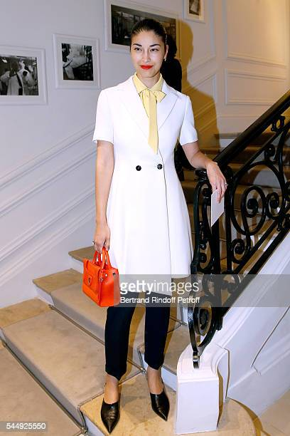 Caroline Issa attends the Christian Dior Haute Couture Fall/Winter 20162017 show as part of Paris Fashion Week on July 4 2016 in Paris France