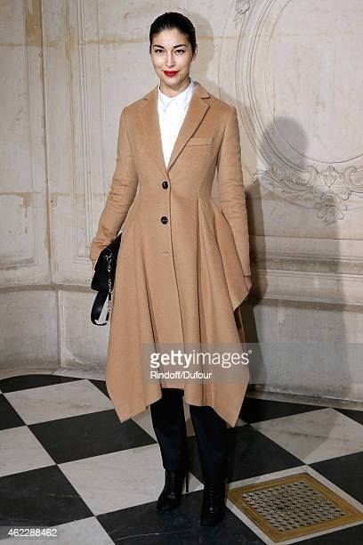 Caroline Issa attends the Christian Dior show as part of Paris Fashion Week Haute Couture Spring/Summer 2015 on January 26 2015 in Paris France