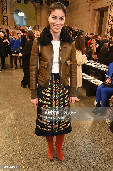 Caroline Issa attends the Christopher Kane show during the London Fashion Week February 2017 collections on February 20 2017 in London England