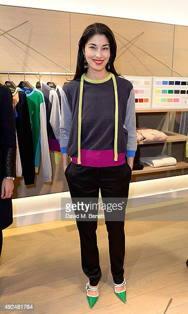 Caroline Issa attends the Deconstructed Project with a private dinner hosted by Caroline Issa David Shrigley and Massimo Nicosia on October 13 2015...