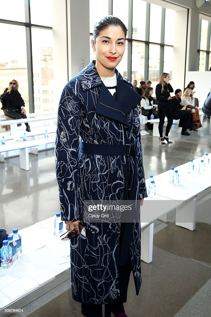 <a gi-track='captionPersonalityLinkClicked' href=/galleries/search?phrase=Caroline+Issa&family=editorial&specificpeople=2254046 ng-click='$event.stopPropagation()'>Caroline Issa</a> attends the Jason Wu Fall 2016 fashion show during New York Fashion Week at Spring Studios on February 12, 2016 in New York City.