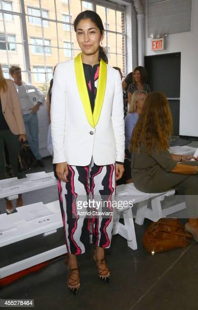 Caroline Issa attends the Juan Carlos Obando Spring 2015 fashion show during MercedesBenz Fashion Week Spring 2015 at Industria Superstudio on...