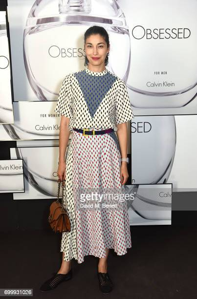 Caroline Issa attends the Kate Moss Mario Sorrenti launch of the OBSESSED Calvin Klein fragrance launch at Spencer House on June 22 2017 in London...