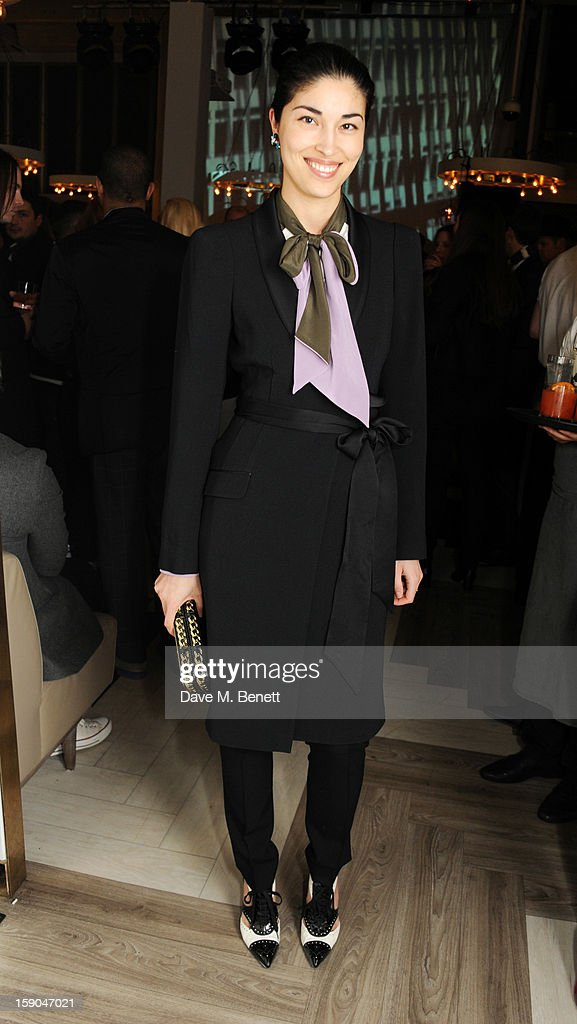 Caroline Issa attends the launch of 1205 Paula Gerbase hosted by Harvey Nichols on January 6, 2013 in London Engand.