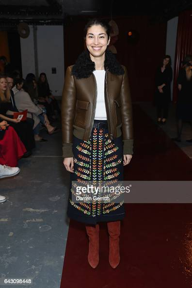 Caroline Issa attends the Roksanda show during the London Fashion Week February 2017 collections on February 20 2017 in London England