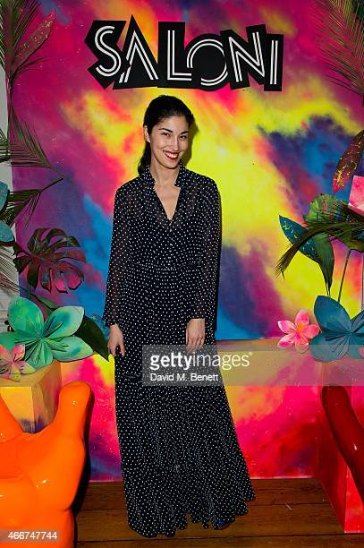 Caroline Issa attends the Saloni Holi colour cocktail party on March 18 2015 in London England