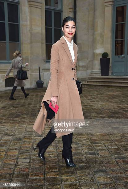 Caroline Issa attends the Schiaparelli show as part of Paris Fashion Week Haute Couture Spring/Summer 2015 on January 26 2015 in Paris France