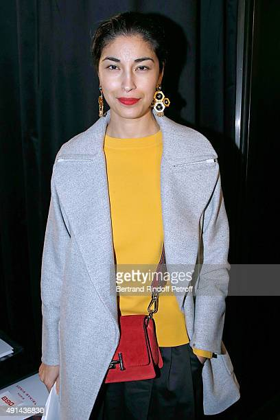 Caroline Issa attends the Sonia Rykiel show as part of the Paris Fashion Week Womenswear Spring/Summer 2016 on October 5 2015 in Paris France