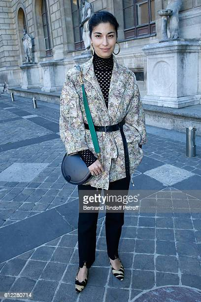 Caroline Issa attends the Sonia Rykiel show as part of the Paris Fashion Week Womenswear Spring/Summer 2017 on October 3 2016 in Paris France