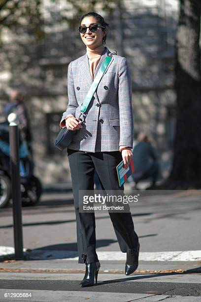 Caroline Issa is seen outside the Miu Miu show during Paris Fashion Week Spring Summer 2017 on October 5 2016 in Paris France