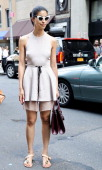 Caroline Issa is seen outside the Proenza Schouler show on September 11 2013 in New York City