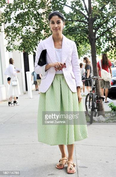 Caroline Issa is seen outside the Thakoon show on September 8 2013 in New York City